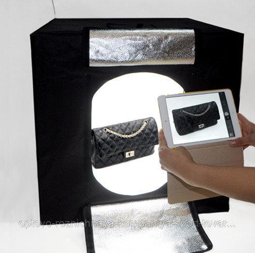 Фотобокс с подсветкой (40х40х40см)