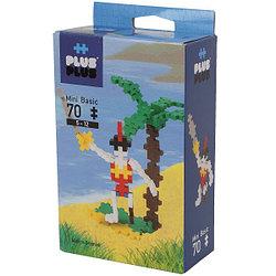 Plus Plus Разноцветный конструктор для создания 3D моделей, пират, 70 деталей