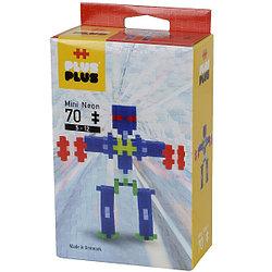 Plus Plus Разноцветный конструктор для создания 3D моделей, робот, 70 деталей