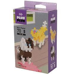 Plus Plus Разноцветный конструктор для создания 3D моделей, собаки, 70 деталей