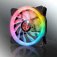 Вентилятор    в кейс 12 см светящийся  RGB