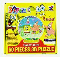 3D Puzzle Yuxin Sponge Bob, 60pcs Пазл Шар Спанч Боб, 60 деталей, фото 1
