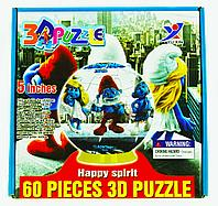 3D Puzzle Yuxin The Smurfs, 60pcs Пазл Шар Смурфики, 60 деталей, фото 1