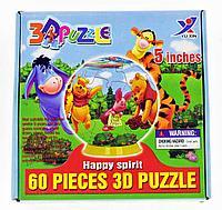 3D Puzzle Yuxin Winnie The Pooh, 60pcs Пазл Шар Винни Пух, 60 деталей, фото 1