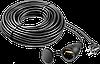 "Удлинитель-шнур ""ПВС 315-Ш"", 10 м, 3500 Вт, 1 гнездо, IP44, ПВС 3х1,5 мм2, ЗУБР"