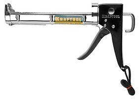 """Пистолет для герметика KRAFTOOL """"C-Kraft"""" 06671, полукорпусной, хромированный, 320мл"""