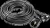 "Удлинитель-шнур ""ПВС 307-Ш"", 30 м, 2500 Вт, 1 гнездо, ПВС 3х0,75 мм2, ЗУБР"