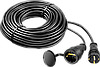 "Удлинитель-шнур ""КГ 325-Ш"", 10 м, 4000 Вт, 1 гнездо, IP44, КГ 3х2,5 мм2, ЗУБР"