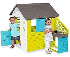 Игровой домик с кухней (синий) 810703