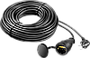 "Удлинитель-шнур ""ПВС 315-Ш"", 20 м, 3500 Вт, 1 гнездо, IP44, ПВС 3х1,5 мм2, ЗУБР"