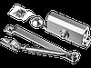 Доводчик дверной STAYER, для дверей массой до 100 кг, цвет серебро