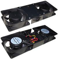 Двойной вентилятор с подшипником для настенных шкафов