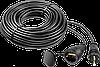 "Удлинитель-шнур ""КГ 325-Ш"", 30 м, 4000 Вт, 1 гнездо, IP44, КГ 3х2,5 мм2, ЗУБР"