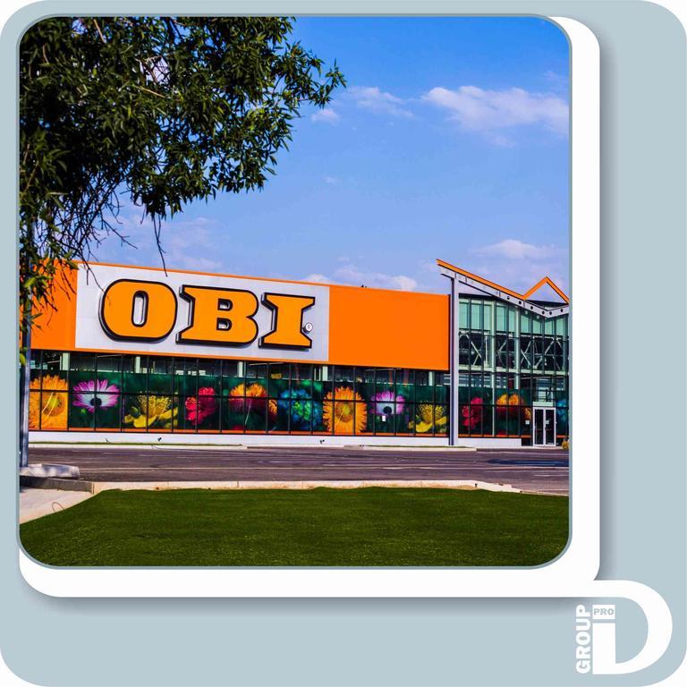 Гипермаркет OBI. Оформление и сопровождение.