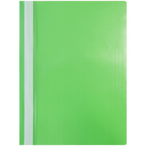 Папка-скоросшиватель пластик. А4, 120мкм, зеленая с прозр. верхом