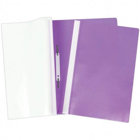 Папка-скоросшиватель А4 160мкм фиолет. (Спейс)