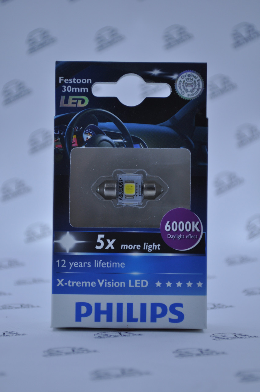LED лампа Philips Vision C5W LED 6000K