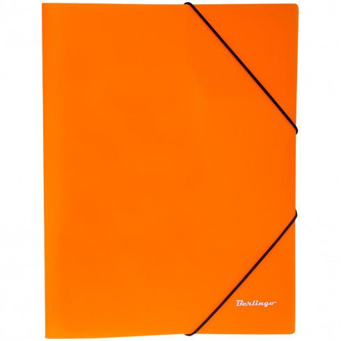 """Папка на резинке """"Neon"""" А4 500 мкм, неоновая оранжевая (Berlingo)"""