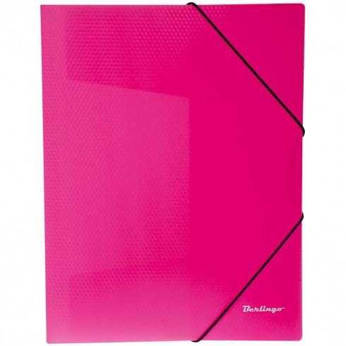 """Папка на резинке """"Neon"""" А4, 500мкм, неоновая розовая ANp_01813 (Berlingo)"""
