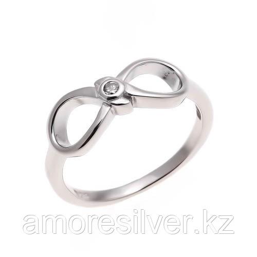 Серебряное кольцо с фианитом   Teosa MKRJ00108-R