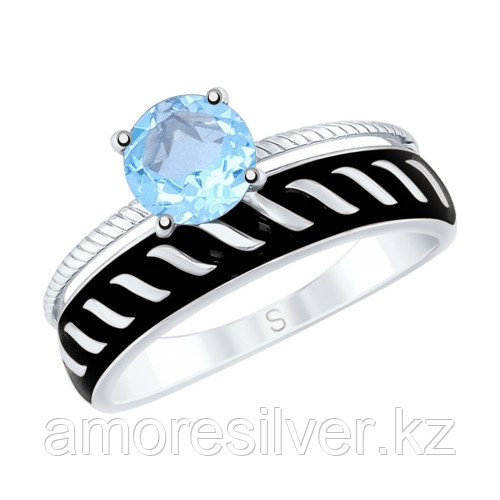 Кольцо из серебра с топазом и эмалью   SOKOLOV 92011612