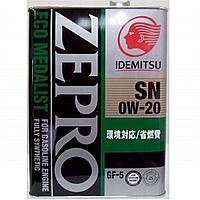 Моторное масло IDEMITSU ZEPRO ECO MEDALIST 0W-20 4литр, фото 1