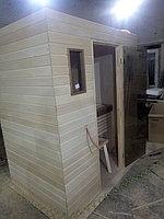 Сборная финская сауна в частном доме для ванной комнаты. Индивидуальное изготовление. Премиум дизайн. Размер = 1,85 х 1,24 х 2,1 м. Адрес: г.... 21