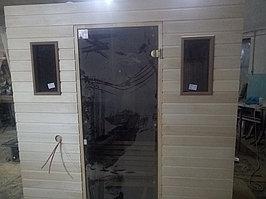 Сборная финская сауна в частном доме для ванной комнаты. Индивидуальное изготовление. Премиум дизайн. Размер = 1,85 х 1,24 х 2,1 м. Адрес: г.... 22