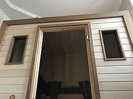 Сборная финская сауна в частном доме для ванной комнаты. Индивидуальное изготовление. Премиум дизайн. Размер = 1,85 х 1,24 х 2,1 м. Адрес: г.... 20