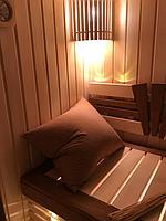 Сборная финская сауна в частном доме для ванной комнаты. Индивидуальное изготовление. Премиум дизайн. Размер = 1,85 х 1,24 х 2,1 м. Адрес: г.... 11