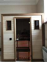 Сборная финская сауна в частном доме для ванной комнаты. Индивидуальное изготовление. Премиум дизайн. Размер = 1,85 х 1,24 х 2,1 м. Адрес: г.... 3