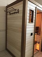 Сборная финская сауна в частном доме для ванной комнаты. Индивидуальное изготовление. Премиум дизайн. Размер = 1,85 х 1,24 х 2,1 м. Адрес: г.... 4