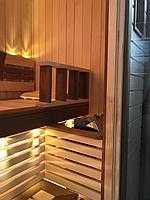 Сборная финская сауна в частном доме для ванной комнаты. Индивидуальное изготовление. Премиум дизайн. Размер = 1,85 х 1,24 х 2,1 м. Адрес: г.... 14