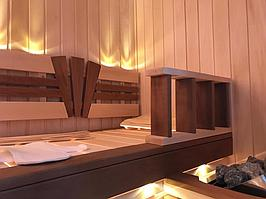Сборная финская сауна в частном доме для ванной комнаты. Индивидуальное изготовление. Премиум дизайн. Размер = 1,85 х 1,24 х 2,1 м. Адрес: г.... 8
