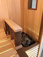 Сборная финская сауна в частном доме для ванной комнаты. Индивидуальное изготовление. Премиум дизайн. Размер = 1,85 х 1,24 х 2,1 м. Адрес: г.... 15