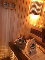 Сборная финская сауна в частном доме для ванной комнаты. Индивидуальное изготовление. Премиум дизайн. Размер = 1,85 х 1,24 х 2,1 м. Адрес: г.... 9