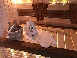 Сборная финская сауна в частном доме для ванной комнаты. Индивидуальное изготовление. Премиум дизайн. Размер = 1,85 х 1,24 х 2,1 м. Адрес: г.... 7