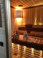 Сборная финская сауна в частном доме для ванной комнаты. Индивидуальное изготовление. Премиум дизайн. Размер = 1,85 х 1,24 х 2,1 м. Адрес: г.... 6