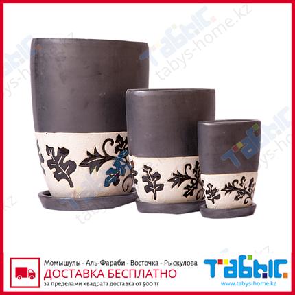 Горшки керамические в комплекте 3 шт. hg 609-1170/3, фото 2