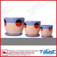 Горшки керамические в комплекте 3 шт. hg 09-1143/3
