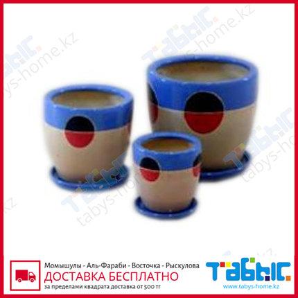 Горшки керамические в комплекте 3 шт. hg 09-1143/3, фото 2