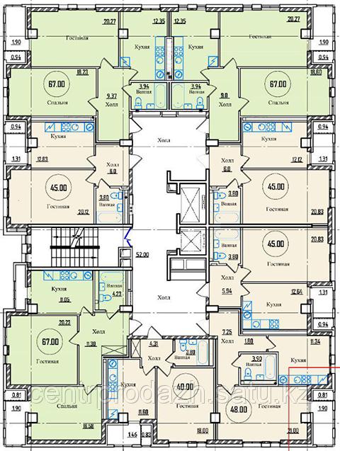2 комнатная квартира в ЖК Toronto (Торонто)  67 м²