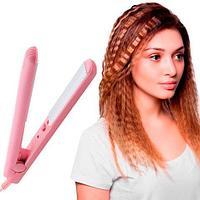 Утюжок для волос дорожный Make TIME BEAUTY с кейсом для переноски (Выпрямитель)