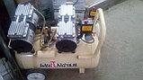 Воздушный бесшумный компрессор, безмасляный tch zz 1160x2/60л, фото 2