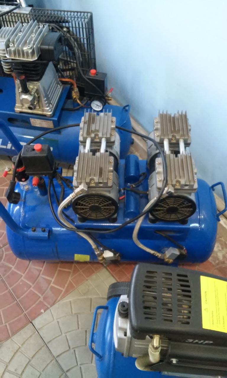 Воздушный бесшумный компрессор, безмасляный tch zz 1160x2/60л