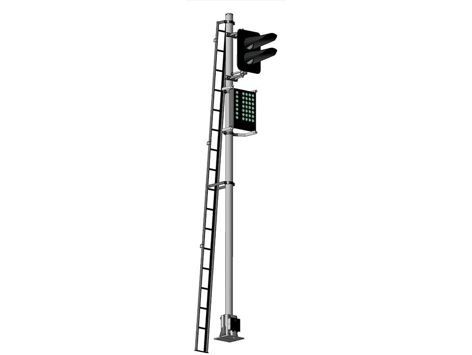 Светофор двухзначный со светодиодными светооптическими системами с маршрутным указателем 17671-00-00
