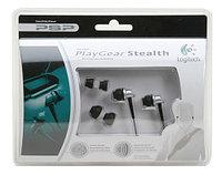 Наушники вставные капельки Logitech Sony PSP Slim 2000/3000 Playgear Stealth, черные, фото 1