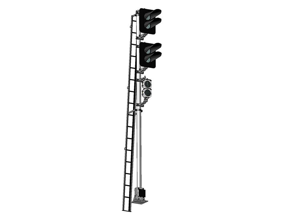 Светофор мачтовый 4-значный светодиодный 17674-00-00