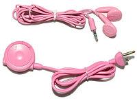 Наушники с пультом Sony PSP Slim 2000/3000, розовые, фото 1