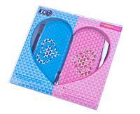 Чехлы на застежке комплект Black Horns Sony PSP Slim 2000/3000 2in1 Sweet heart couple, гол. и роз., фото 1
